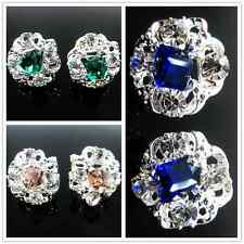 Charming Fashion Women Lady Girls Crystal Rhinestone Silver Ear Stud Earrings