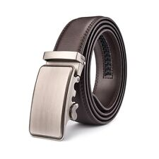 Fashion Pure Automatic Buckle Belt Real Leather Strap For Men Business Jeans