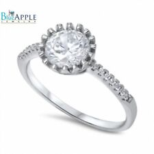 Solitaire Dazzling Wedding Engagement Ring 925 Sterling Silver 2Ct Russian CZ