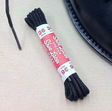 (2 Pairs) Thin Round Dress Shoe Boot Laces Cotton Shoelaces Non-Waxed ALL SIZES