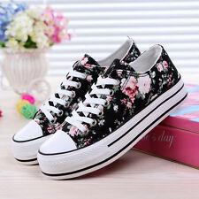 New Womens Shoes Canvas Shoes Casual Shoes Sneakers Comfort Flat Pretty Floral