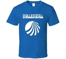 Rollerball Sci-Fi Cult Classic Movie Retro 1975 T-Shirt James Caan New Blue Tee