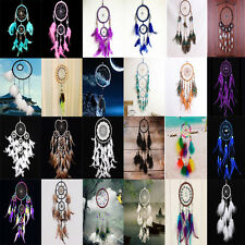 Handmade Dream Catcher Net With Feathers Hanging Decoration Ornament Craft Gift