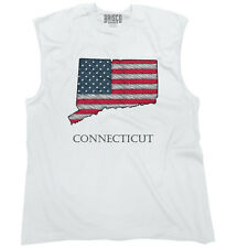 Connecticut State Pride American Flag USA Patriotic Gift Ideas Sleeveless Tee
