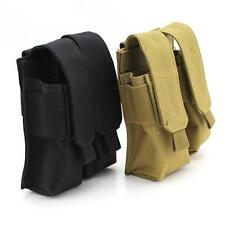 Tactical Molle Double Magazine Pouch Pistol Cartridge Clip Pouch for USUG 30 RD