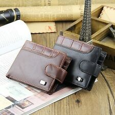 Men's Leather Wallets Bifold Money Clip Card Holder Purse Wallet Clutch Coin Bag