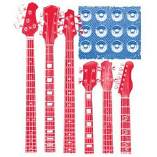 RED WHITE & BLUE FLAG T-SHIRT WITH GUITAR & AMP AS STRIPES & STARS AMERICAN FLAG