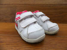 Infants Nike White Leather Velcro Strap Trainers Size UK 5K EUR 21.5