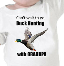 """""""CAN'T WAIT TO GO DUCK HUNTING WITH GRANDPA"""" Infant Tee or Youth T-Shirt"""
