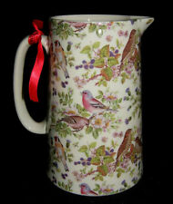BN Retro Garden Birds Milk Jug, Choice of sizes, Hand-decorated, Choice of sizes