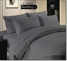 SALE 1000 800 TC 100%Egyptian Cotton UK Size Hotel Combo Bedding's in Gray Solid