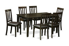 7 PC Dining Table Set for 6-dining room table and 6 dining chairs