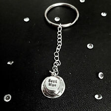 Wedding Party Keyring Gift or Favours - Bride, Groom, Best Man, Bridesmaid, ect.