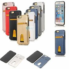 SUITCASE Style Card Hold TPU Soft Inner Case PC Hard Skin Cover For Apple iPhone