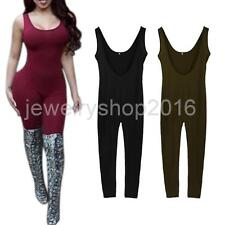 Women's Sexy Backless Tank Jumpsuits Casual Bodycon Sleeveless Romper Playsuit