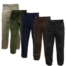 Mens Thick Cord Trousers Smart or Casual Jumbo Chunky Corduroy Size 30 - 50