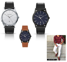 NEW Sekonda Gents Classic Quartz Analogue Leather Strap Date Watch 3531 or  3536