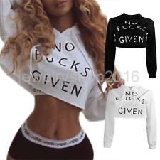 Fashion Women Letters Print Design Tie Collar Long Sleeve Sexy Hoodies Jumper