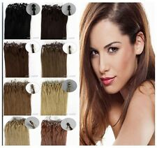 16''18''20'' Double Drawn Remy Loop Micro Ring Beads Tip Human Hair Extensions