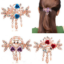 Style New Crystal Flower Mini Hair Claw Clamp Hair Clip Hair Pin Hair Accessory