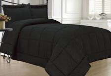 Black Down Alternative Comforter Set New Bedding Bed Full Queen Twin King Size