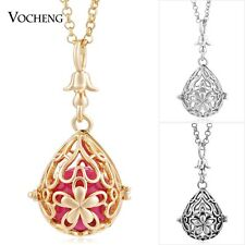 Vocheng Caller Harmony Drop Copper Flower Necklace Stainless Steel Chain VA-232