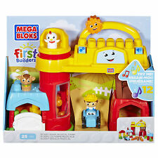 Mega Bloks First Builders Bobby Barn Musical Farm - Brand New - Fast Postage