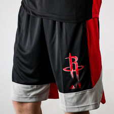 adidas NBA Houston Rockets Winter Hoops Shorts men NEW AX7619 black red grey