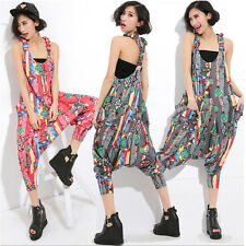 New Long Cotton Jumpsuits Trousers Harem Pants Loose Overalls Rompers Playsuits