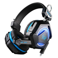 KOTION EACH GS210 Stereo Gaming Headphone Computer Game Headset Mic Colorful LED