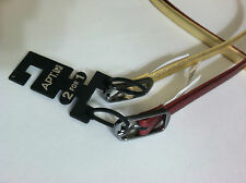 "NWT APT. 9 WOMENS Set Belt: 2 for 1 Red/Gold Skinny Belt 5/8""wide Sz.L, XL New"