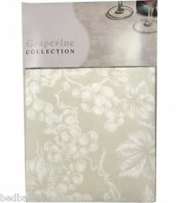NEW - Ivory Grapevine Vinyl Tablecloth