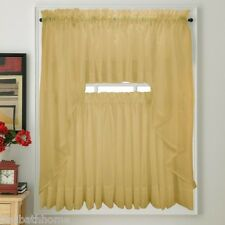 NEW - Stylemaster Elegance Voile GOLD Sheer Curtain