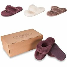 Nordvek Ladies Genuine Sheepskin Flip Flop Slippers Thongs Real Womens 411-100