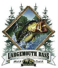Large Mouth Bass  Fishing  Tshirt    Sizes/Colors