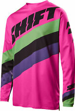 Shift Racing Black/Pink/Green/Purple White Label Tarmac Dirt Bike Jersey MX ATV