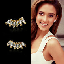 Women Lady Girls Elegant Crystal Rhinestone Ear Stud Earrings Fashion 1 Pair
