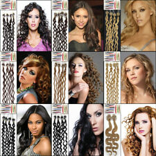 20''Curly Easy Loop Micro Ring Beads Tipped Remy Real Human Hair Extensions 100S