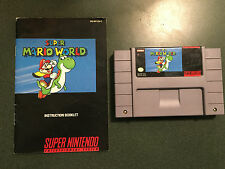 SNES Super Mario World Game and Instruction Booklet
