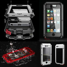 Hybrid Aluminum Gorilla Glass Metal Waterproof Cover Case for iPhone 5 5S