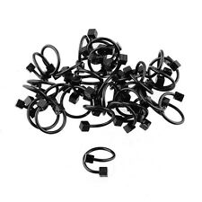 20pcs Stainless Steel Black Color Plated Dice Twists Body Piercing Wholesale Lot