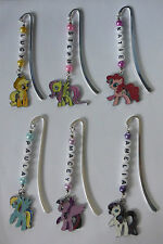 Personalised My Little Pony Bookmark- Any Name, Choose from 6 Pony Charms.