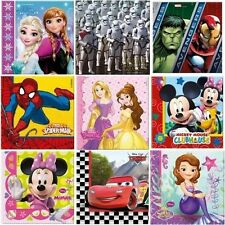 20 Disney Licensed Party Luncheon Napkins Choose Required Character - Procos