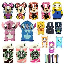3D Cartoon Animals Soft Silicone Case Back Cover Protective Skin For LG Phones