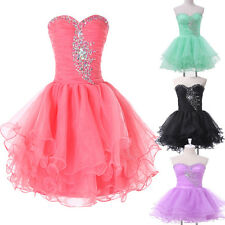Short Mini BEAD Ball Cocktail Party Gown Evening Prom Cocktail Bridesmaid Dress