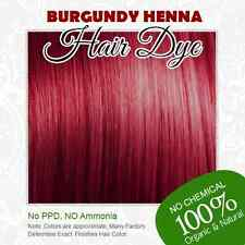Burgundy Henna Hair Dye - 100% Organic and Chemical free Henna for Hair