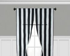 Black and White Stripe Curtains Window Treatments Drapery Valance Curtain Panels
