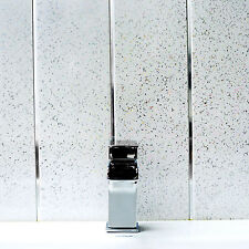Platinum White Sparkle & Chrome Bathroom PVC Cladding Plastic Shower Wall Panels