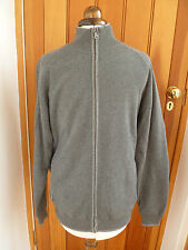 MARKS AND SPENCER SOFT CHARCOAL GREY FULL ZIP SWEAT TOP CARDIGAN  JUMPER SMALL S