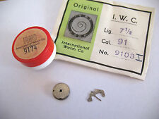 IWC,INTERNATIONAL WATCH CO CALIBRE  91 ASSORTED NEW OLD STOCK MOVEMENT PARTS